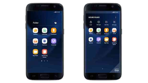 Samsung Secure Folder app Galaxy S7 screenshots 1