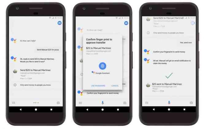 Google Assistant send money to friends