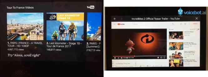 YouTube Amazon Echo Show comparison