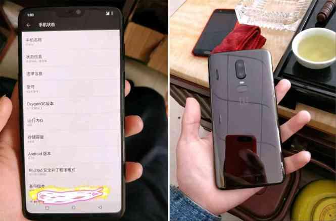 OnePlus 6 photos leak