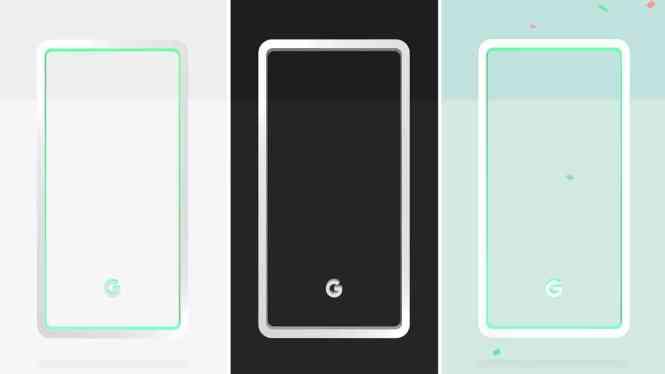 Google Pixel 3 colors teaser