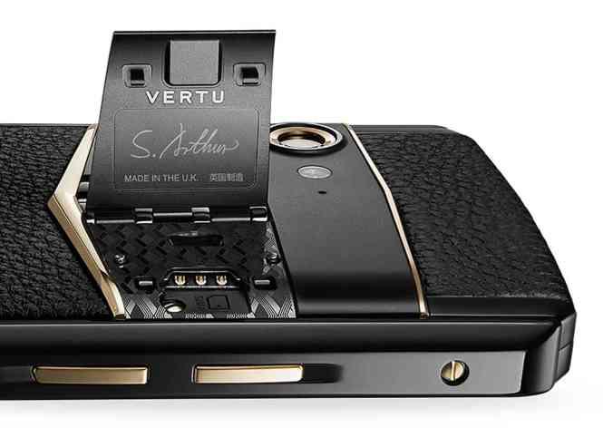 Vertu Aster P gull wing door SIM card slot