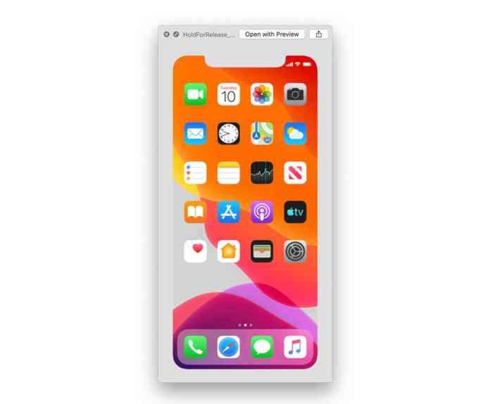 iPhone 11 event date iOS 13 asset