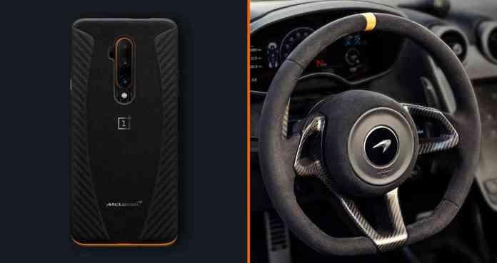 OnePlus 7T Pro McLaren Edition Alcantara case