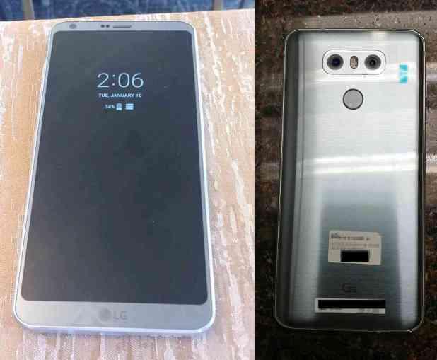 LG G6 photos leak front rear