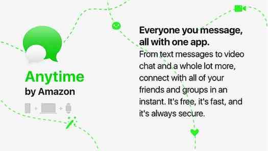 Amazon Anytime messaging app leak