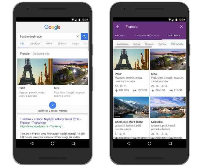 Google Destinations new languages