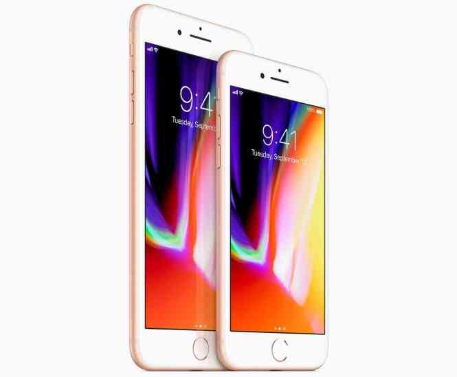 iPhone 8, iPhone 8 Plus front