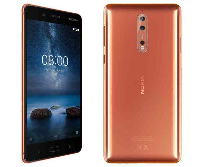 Nokia 8 official front back