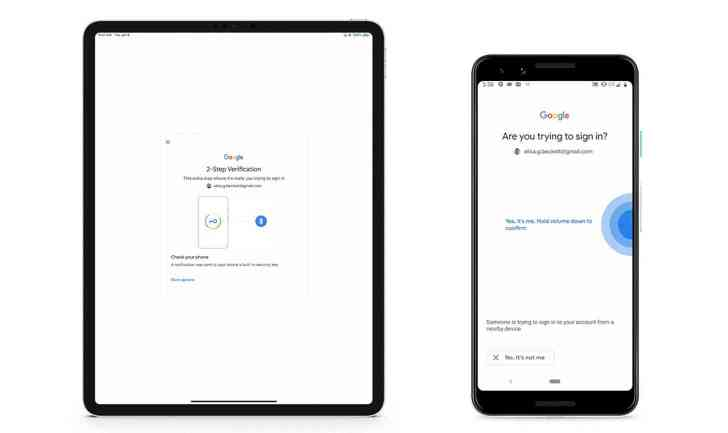 Android security key Google sign-in iOS