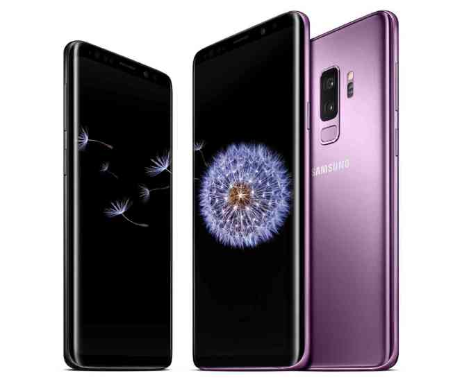 Samsung Galaxy S9+ group Lilac Purple