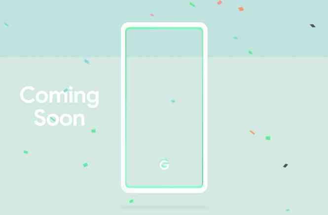 Google Pixel 3 mint color teaser