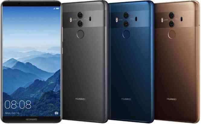 Huawei Mate 10 Pro U.S. colors