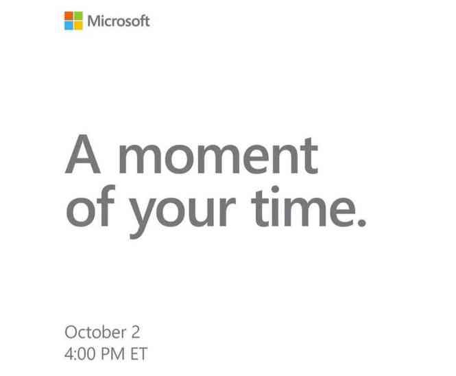 Microsoft event October 2