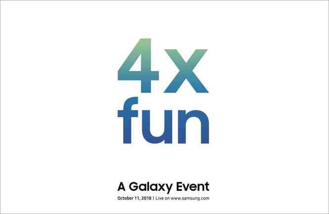 Samsung 4x fun Galaxy event invitation
