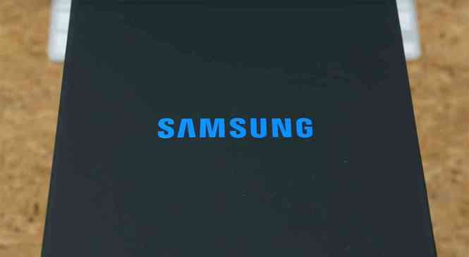Samsung logo packaging