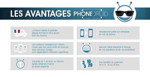 Avantages PhoneDroid