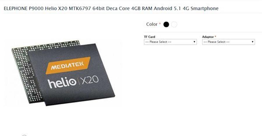 Elephone P9000 : Confirmé avec processeur 10 cœurs et 4 Go de RAM !