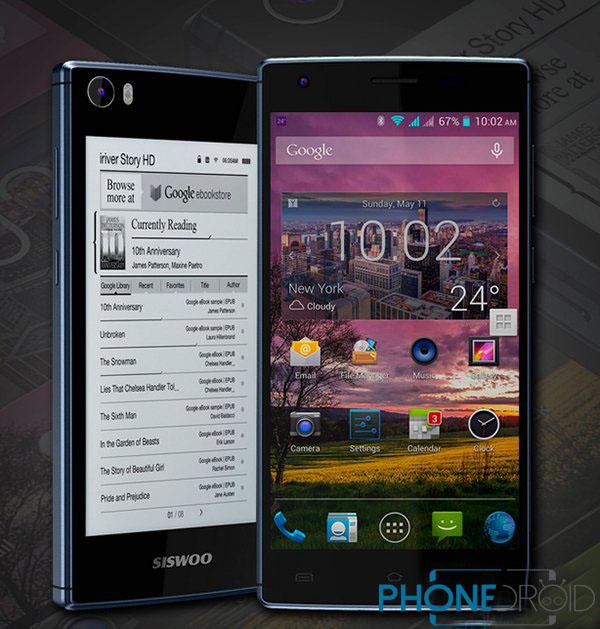 Siswoo R9 : Deux écrans, MT6752 64 Bits, 3 Go de RAM