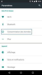 Android 5 consommation des données