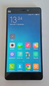 Écran du Xiaomi Mi4c