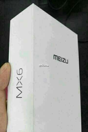 packaging du Meizu MX6