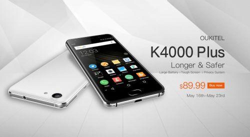 Oukitel K4000 Plus avec écran durci : début des précommandes