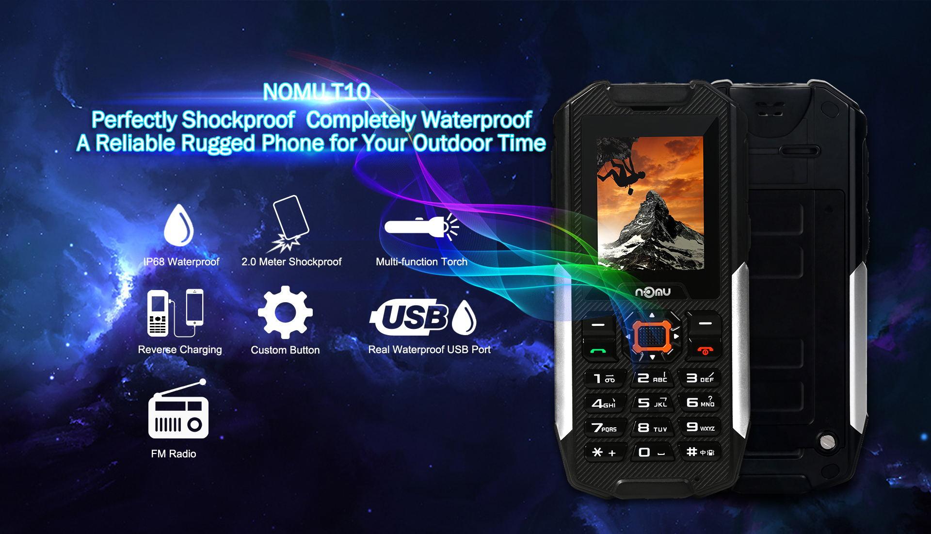Nomu T10 : sortie d'un nouveau smartphone durci et IP68