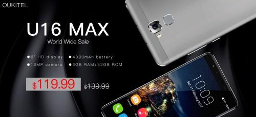 Oukitel U16 Max : début des ventes à 119,99$