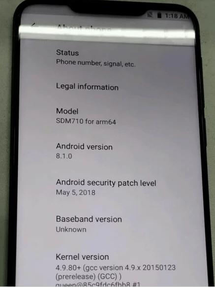 Meizu X8 : sérieux concurrent au Xiaomi Mi 8SE
