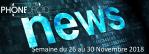 Les NewsDroid de la semaine du 26 au 30 Novembre 2018
