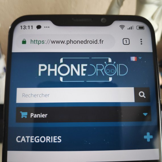 Le notch du Meizu X8
