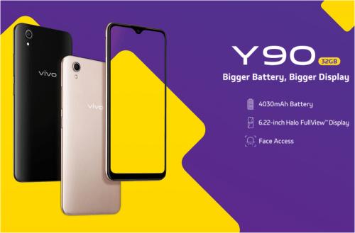 Vivo Y90 : nouvelle entrée de gamme avec Helio A22