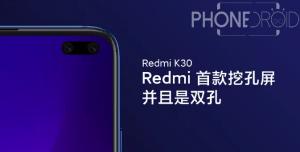 Redmi K30 : premier rendu officiel!