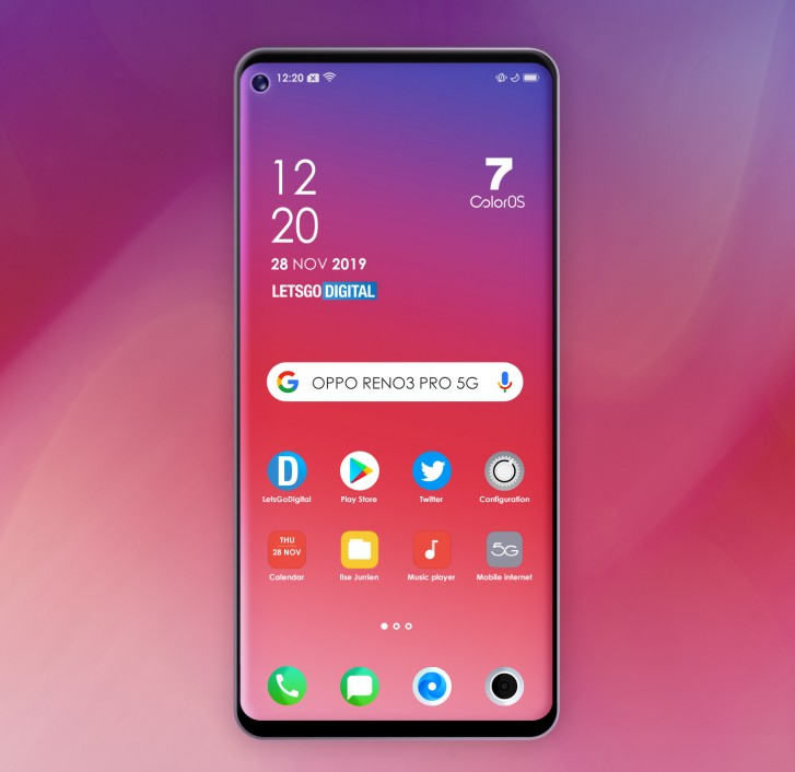 Oppo Reno 3 : Qualcomm Snapdragon 765 et dalle perforée