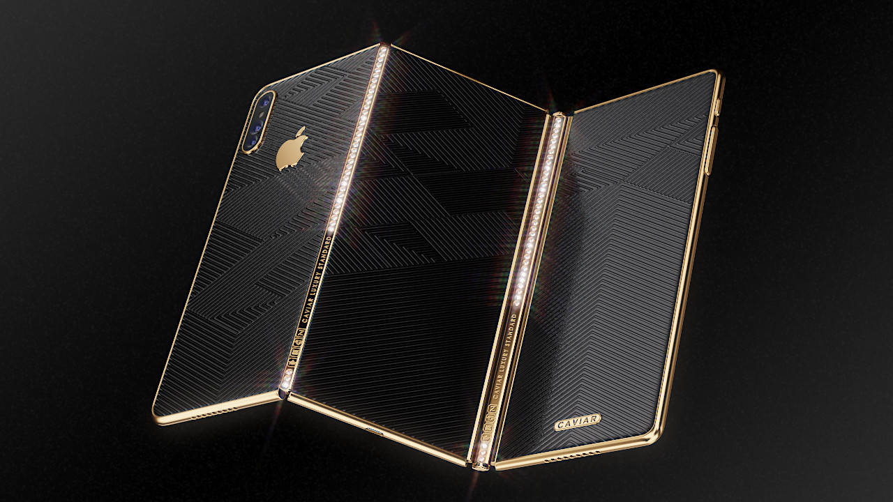iPhone Z concept foldable phone by Caviar