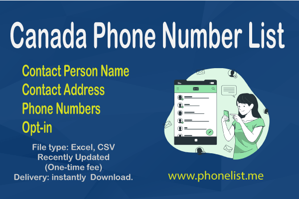 Canada Phone Number List