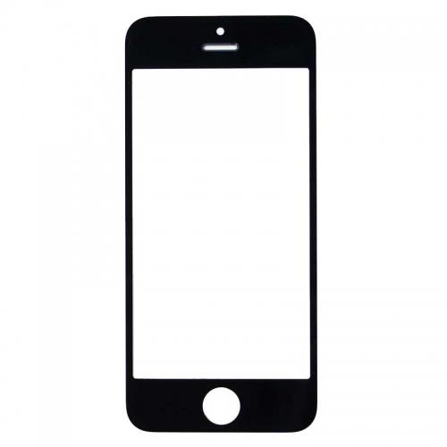 iPhone 5 5C 5S Screen Glass Lens Replacement (Black, Original)