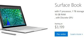 Surface Book, 1To et 16 GO pour 3 199 dollars