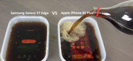 Samsung Galaxy S7 Edge vs iPhone 6S Plus Coca-Cola : Test de survie dans du Coca Cola