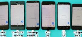 Speed test : HTC U11 vs Galaxy S8+ vs le top des mobiles de 2017