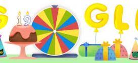Google célèbre son 19e anniversaire