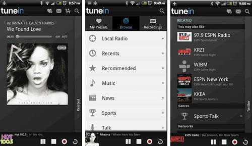 Android TuneIn Radio