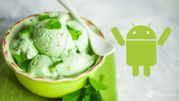 Android P Pistachio Ice Cream