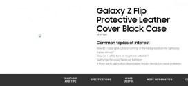 Samsung confirme le nom Galaxy Z Flip sur son site