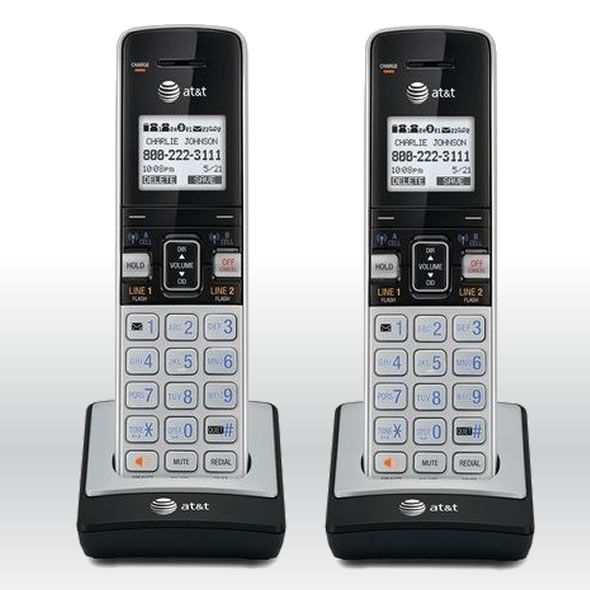 2 x AT&T TL86003 2 Line Connect-To-Cell Caller IDWaiting ID Handset for TL86103 bg