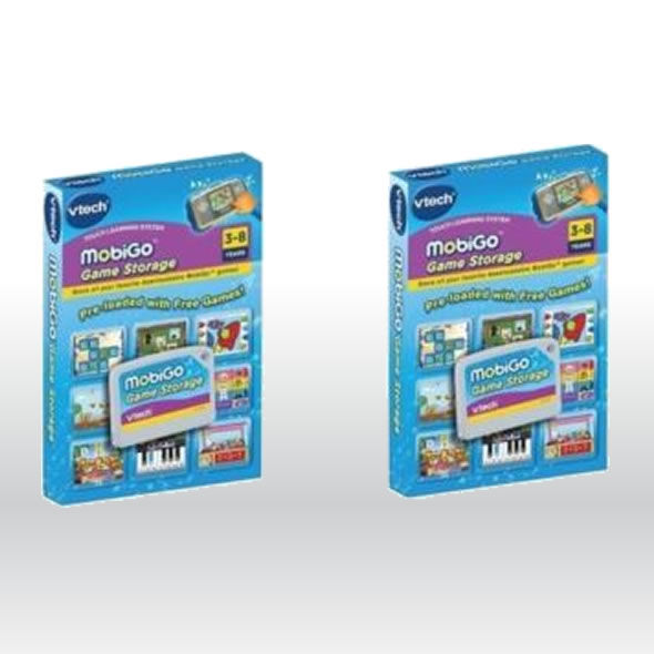 2 x NEW Vtech Mobigo Storage Card Cartridge - stores 30 games bg