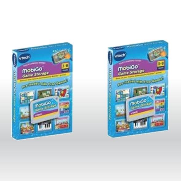 2 x NEW Vtech Mobigo Storage Card Cartridge - stores 30 games bg