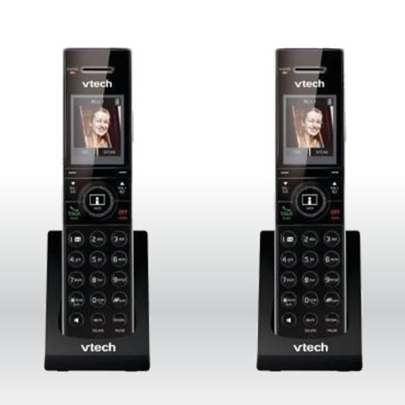2 x Vtech IS7101 DECT 6.0 Cordless Home Monitoring Door Phone Handset for IS7121 bg