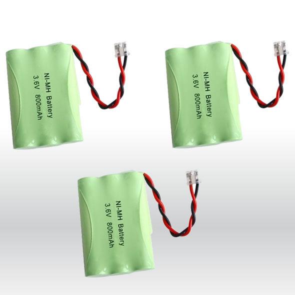 3 NiMH 3.6V Cordless Phone Battery For Radio Shack CS-90261 bg